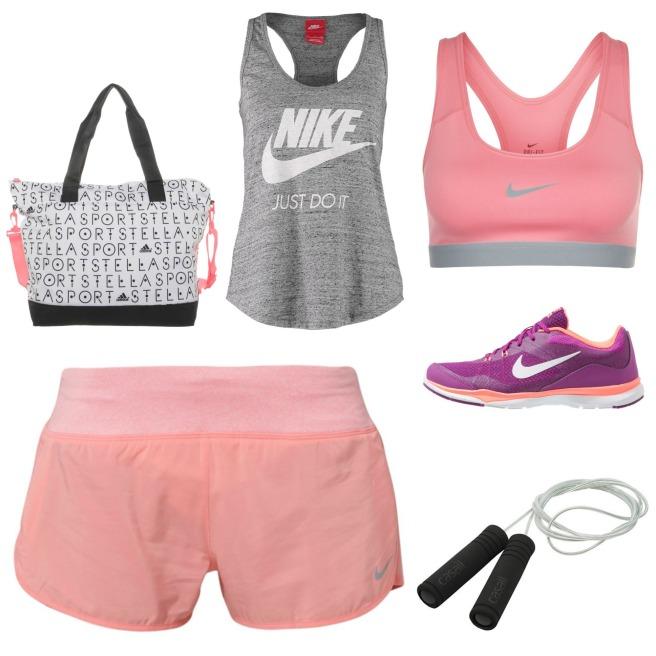 Peach Workout Wear